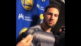 Klay Thompson speaks on playing against Steph Curry in the ASG + GSW post game interviews!!