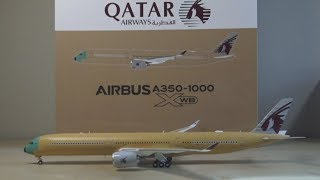 "JC Wings 1:200 ""Bare Metal"" Qatar Airways A350-1000 Unboxing"