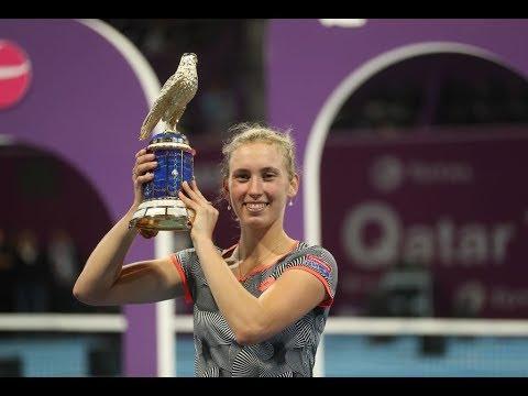 Elise Mertens' Road to the Title | Beating Halep, Kerber & Bertens | 2019 Qatar Total Open