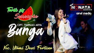 Utami Dewi Fortuna - Bunga - Tarik sis semongko - New Monata Live Blega Bangkalan