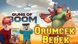 Örümcek Bebek ve Şaptal Tablette Guns of Boom Oyunu Oynuyor Örümcek Bebeğin Oyun Kanalı