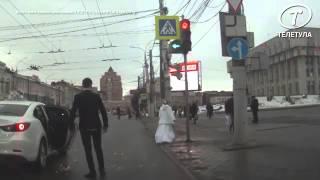 Невеста избила жениха букетом и сбежала :D