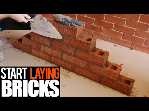 How to lay bricks for beginner