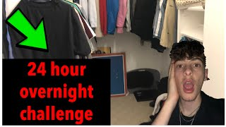 24 HOUR OVERNIGHT CHALLENGE IN MY CLOSET!!! (GONE INSANE)