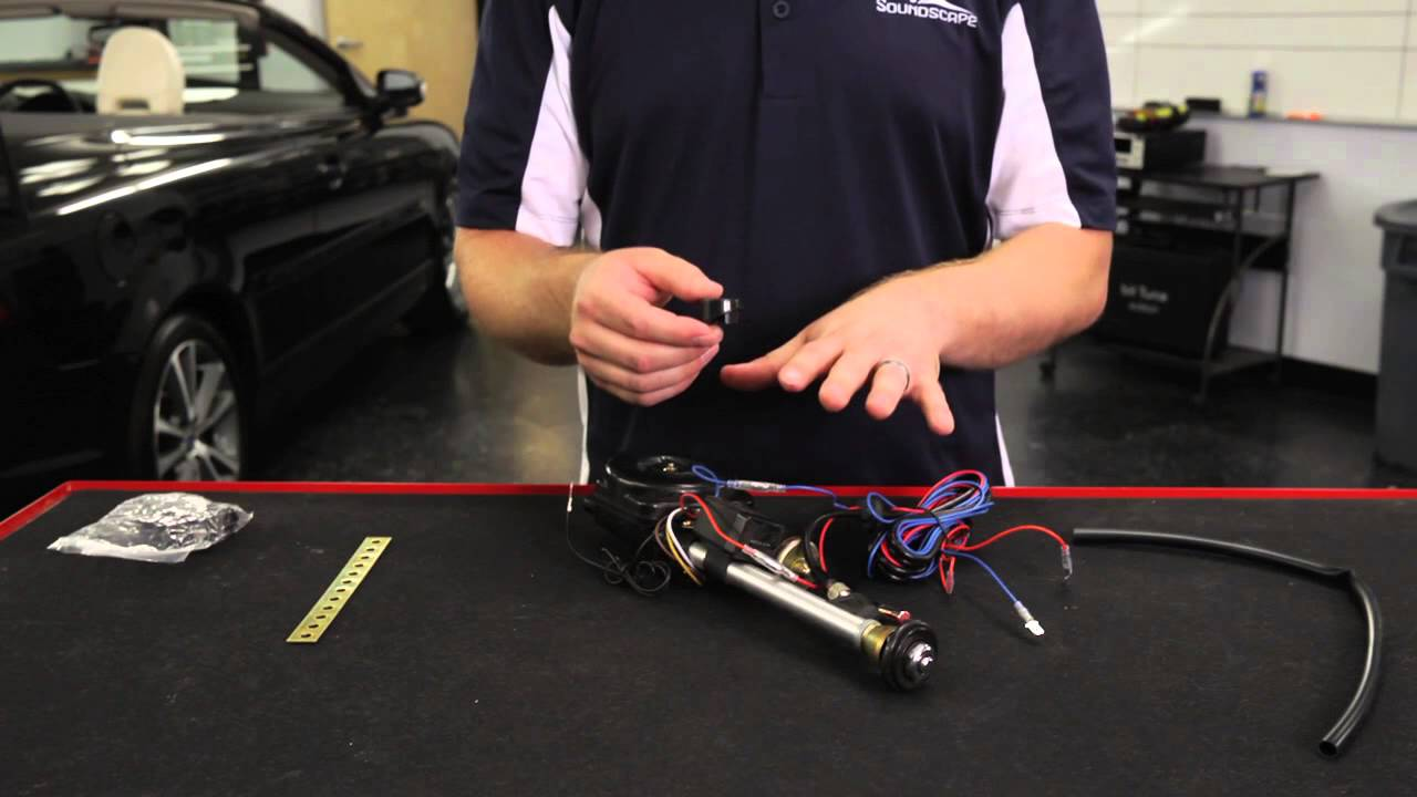 electric antenna wiring diagram cb750 simple how to wire a new car audio youtube