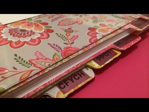 C mo hacer pesta as separadoras para agendas cuadernos y - Como hacer un libro hueco ...