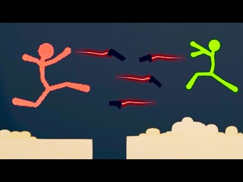 EPIC THROWING Weapon CHALLENGE! - Stick Fight Pistol Only Challenge! - Stick Fight Gameplay