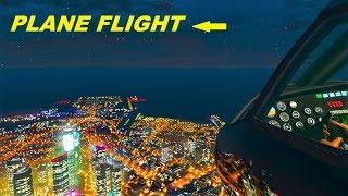 REALISTIC Plane Flight , Window view , Start and Landing , GTA 5 Online
