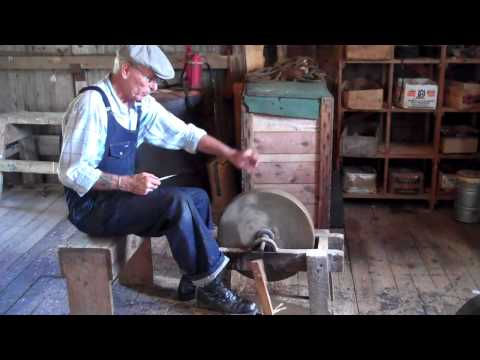 Mr. Keeble Explains - Sharpening A Knife On A Grind Stone