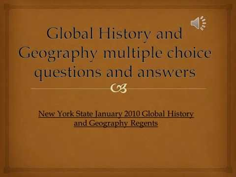 Global History January 2010: Multiple Choice