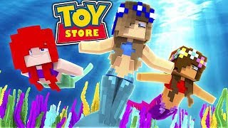 LITTLE CARLY AND LITTLE ALLY TURN INTO MERMAIDS! (Minecraft Toystore).