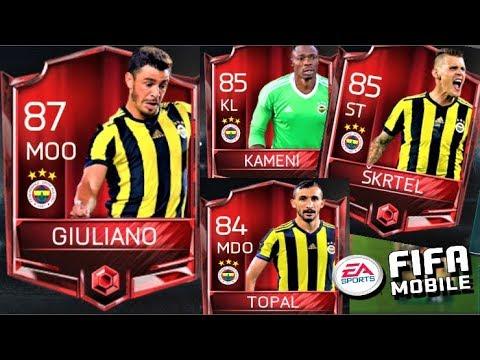 1.5 MİLYON COİNS FENERBAHÇE FULL KADRO !! 87 GEN !! Fifa Mobile
