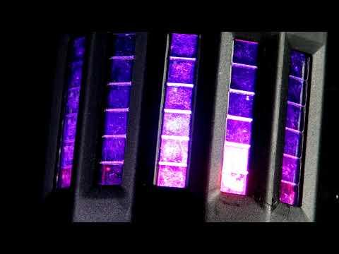 ETEC LED PARTYBAR 2 Scheinwerfer Mit Derby Inkl. Stativ Und Fernbedienung