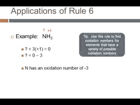 Assign oxidation numbers