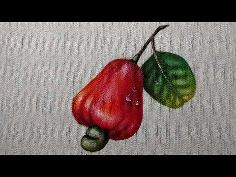Como Pintar Caju Vermelho