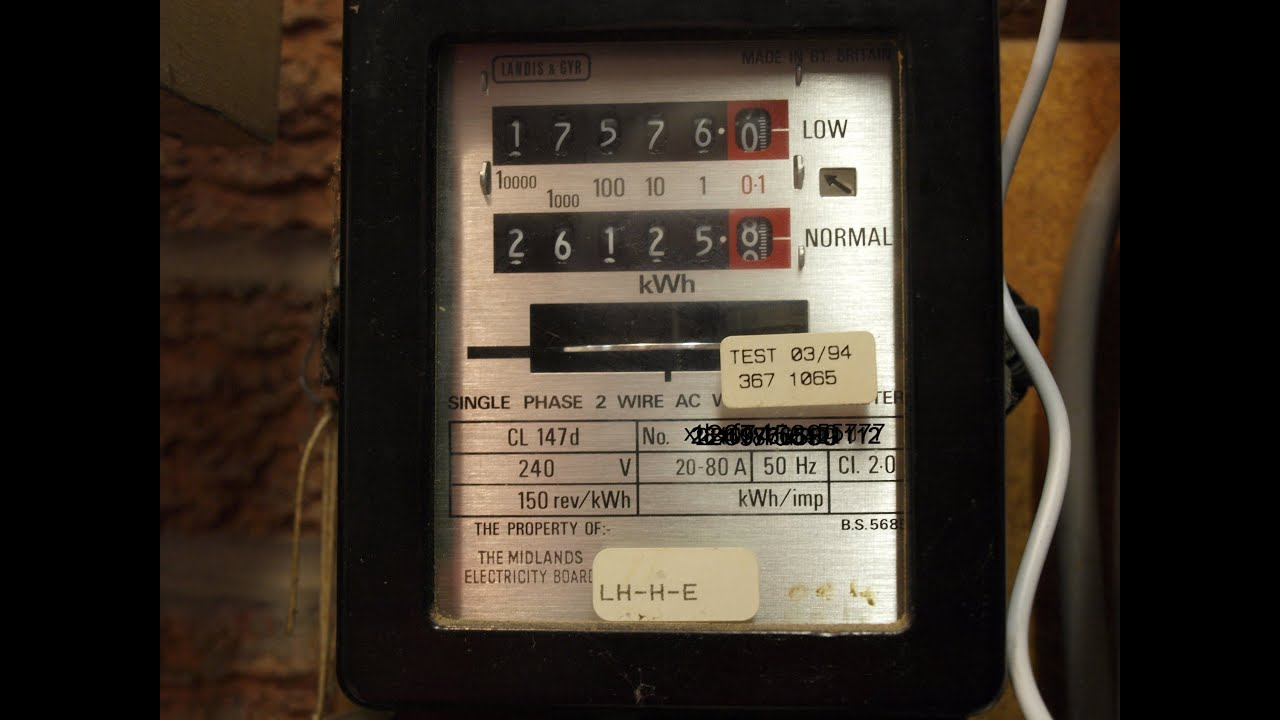how to change an electricity meter