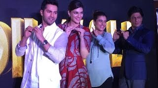 We Spotted! SRK, Kajol, Kriti and Varun At The launch  Of 'Tukur Tukur Song!