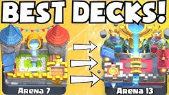 Clash Royale BEST ARENA 7 - ARENA 13 DECKS UNDEFEATED | BEST DECK ATTACK STRATEGY TIPS F2P PLAYERS