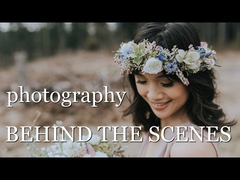 BRIDAL PHOTOSHOOT | behind the scenes portrait tutorial