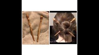 Woodturning A Pair of Hair Sticks in Iroko