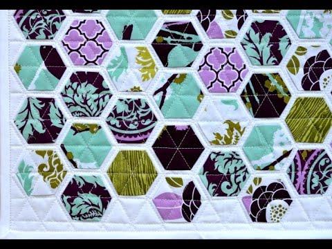 Hexagon Quilt Patterns - YouTube : hexagon quilts patterns - Adamdwight.com