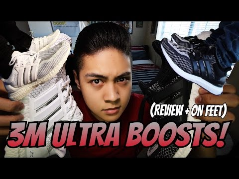 ADIDAS ULTRA BOOST 3M BLACK/WHITE CAGED! (REVIEW + ON FEET!!!)