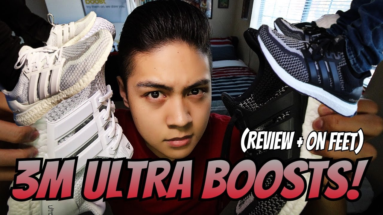 889207b29bb3f ADIDAS ULTRA BOOST 3M BLACK WHITE CAGED! (REVIEW + ON FEET!!!) - YouTube