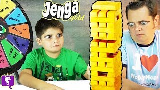 JENGA GOLD Game and Wheel of Doom with HobbyFamily