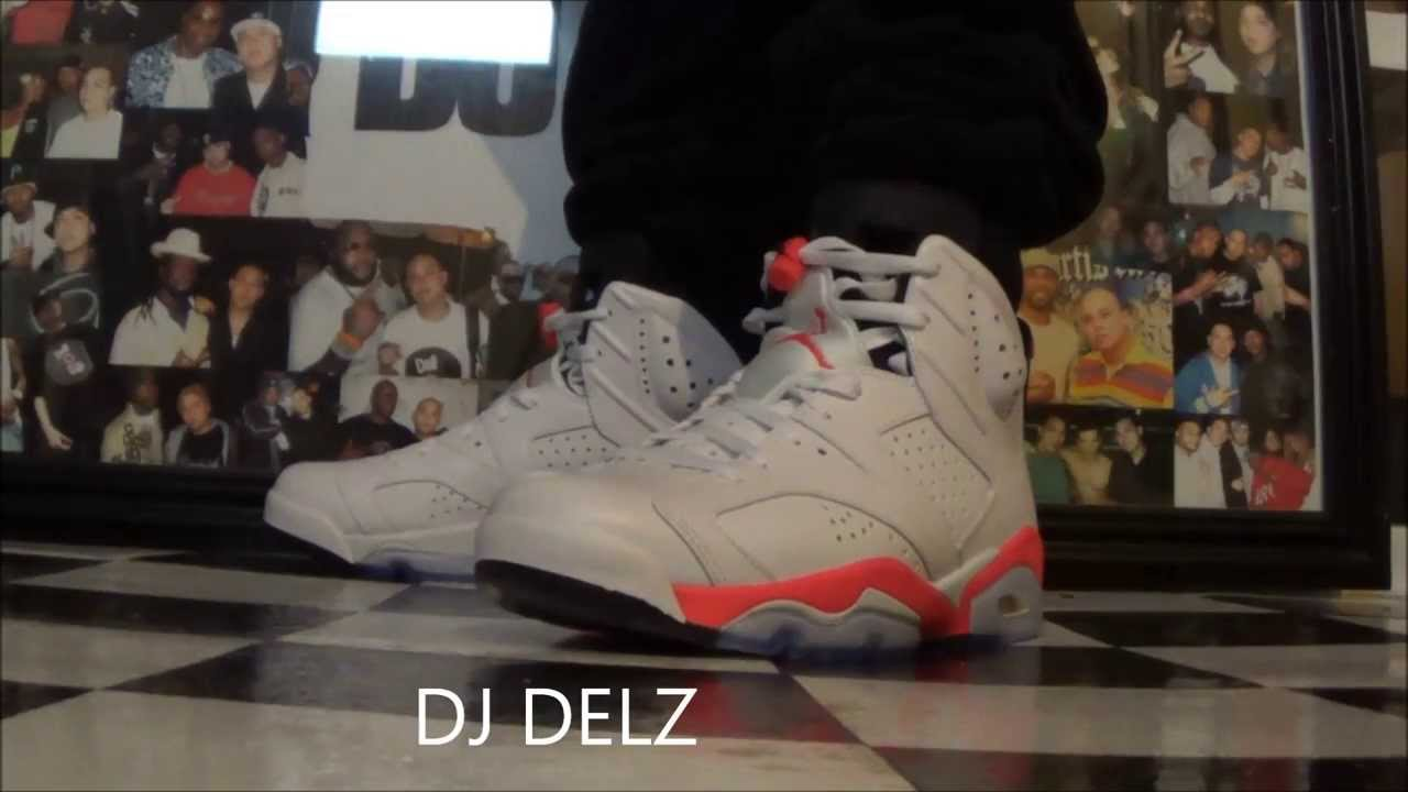 96e0e320f24 2014 Air Jordan 6 White Infrared VI Sneaker Review + On Feet 2010   Varsity  Red Comparison + GS - YouTube