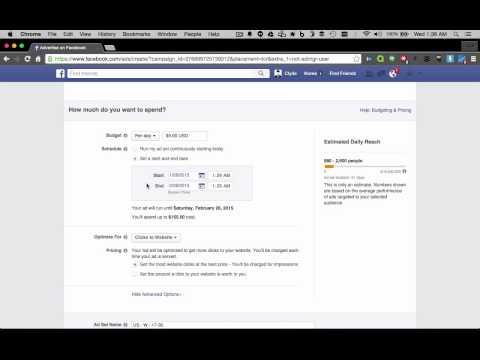 How to Create an Ad Campaign in Facebook (2015)