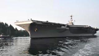 Sailors assigned to USS John C. Stennis (CVN 74) begin sea trials a...