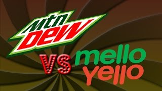 Jenn and I take take a blind taste test Mountain Dew VS Mellow Yell...