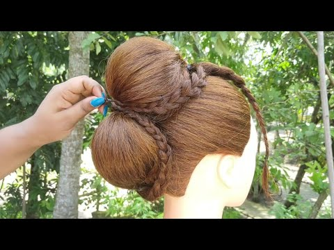 Most Beautiful Hairstyle For Wedding And Party || Bridal Hairstyle || Juda Hairstyle || Hair || thumbnail