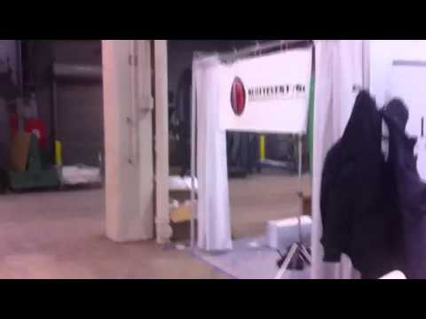 Setting up for travel goods trade show chicago 2011