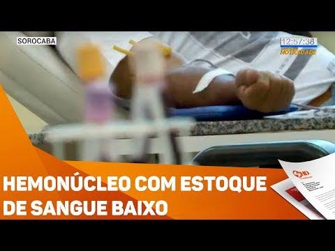 Hemonúcleo com estoque de sangue baixo - TV SOROCABA/SBT