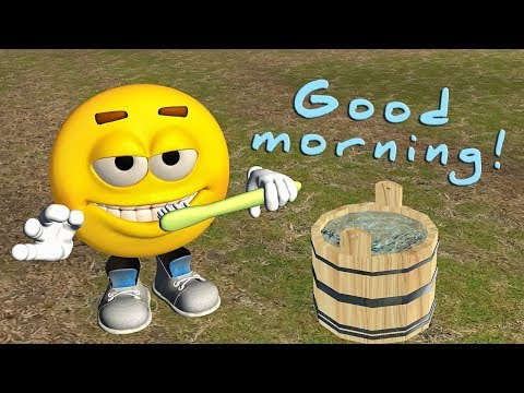 Funny Good Morning video. Emoji wishes Good Morning - Прикольное видео онлайн