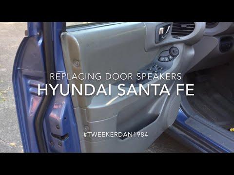 How To Replace Door Speakers In Hyundai Santa Fe Youtube