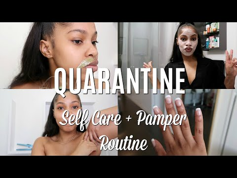 QUARANTINE PAMPER & BEAUTY MAINTENANCE ROUTINE | BIKINI WAXING, BROWS, NAILS + MORE!