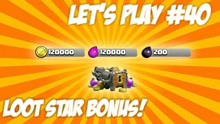 ★CLASH OF CLANS | LET'S PLAY STAR BONUS! Lucky Attacks + Final Wall Upgrades Live Episode 40★