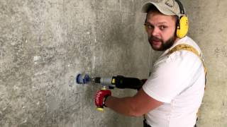 Подрозетники в бетоне - легко и быстро