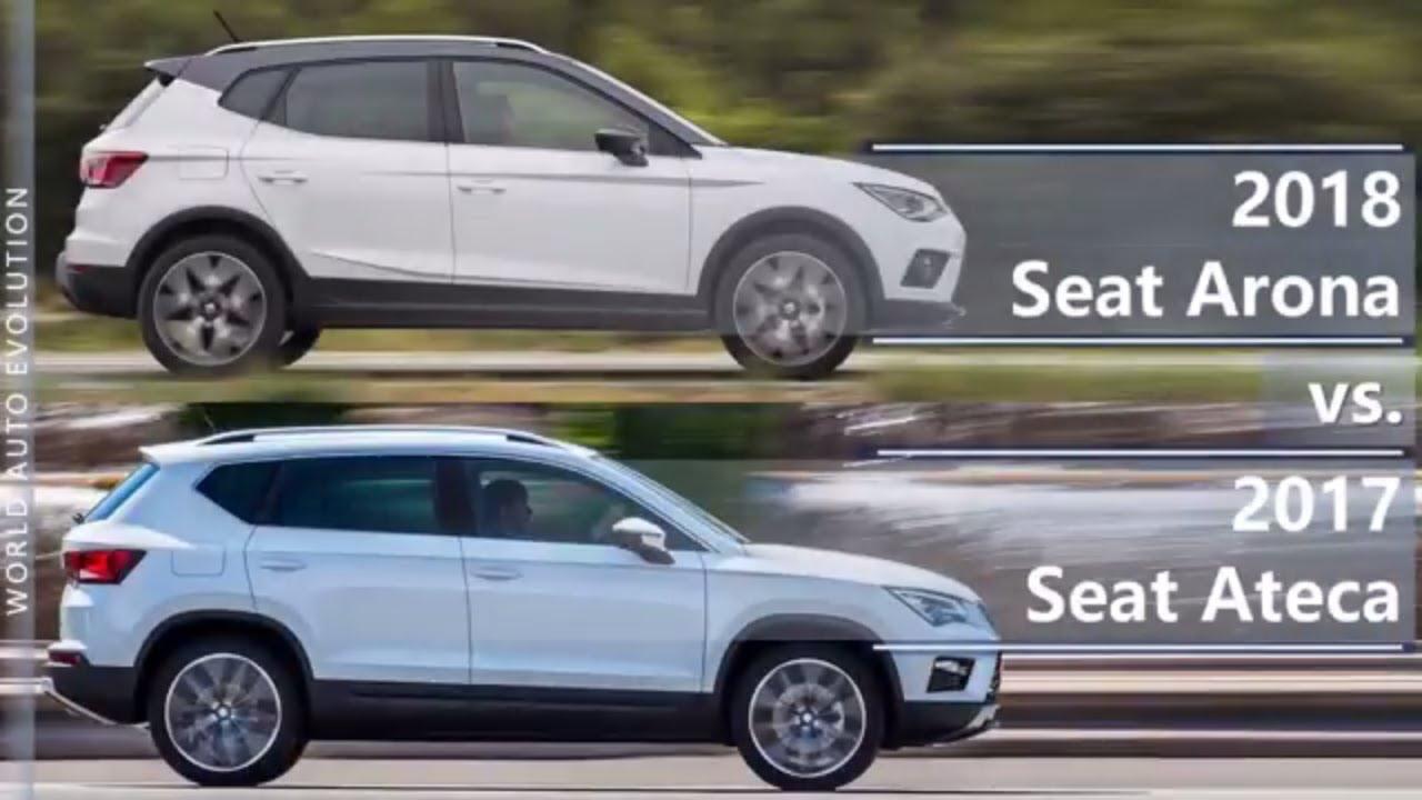 2018 seat arona vs 2017 seat ateca technical comparison youtube. Black Bedroom Furniture Sets. Home Design Ideas