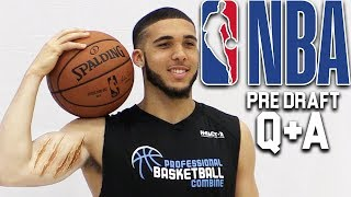 LiAngelo Ball Talks Getting Drafted By Lakers and PLAYING WITH LONZO! NBA PRE DRAFT Q&A!