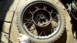 Ремонт колеса ИЖ Юпитер 5