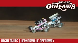World of Outlaws Craftsman Sprint Cars Lernerville Speedway Highlights