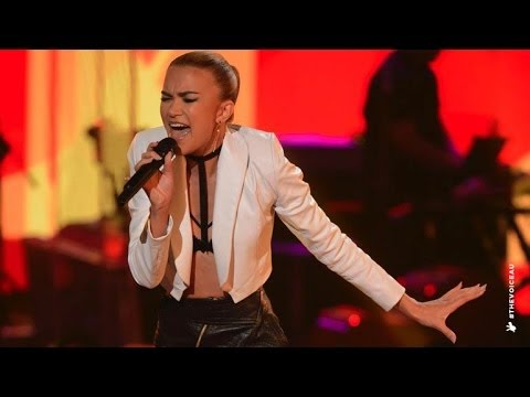 Fely Irvine Sings We Found Love: Sing-Off | The Voice