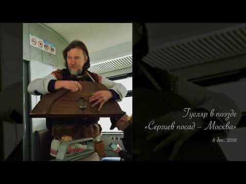 Гусляр в поезде «Сергиев посад - Москва»