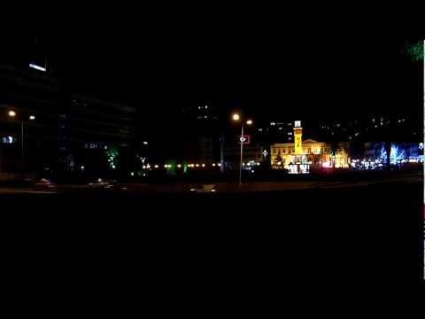 Evening prayer, Izmir clock tower Konak square