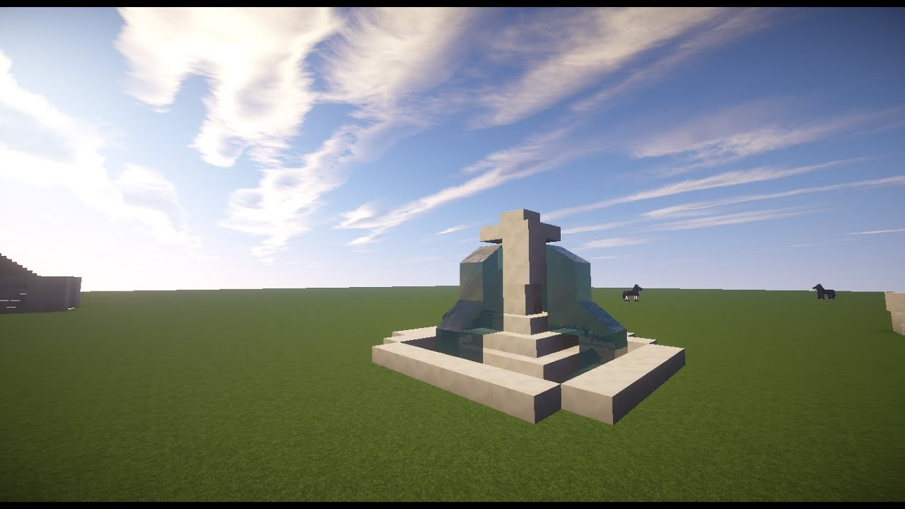 MINECRAFT How To Build: Small Fountain