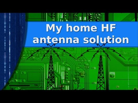 Ham Radio -  Viewer Request -  My home HF antenna solution, 160-10 on a small city lot!