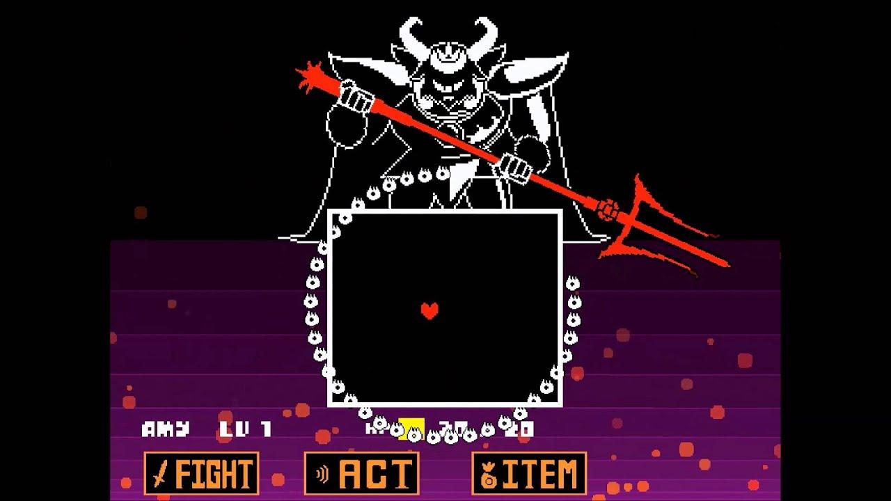 Undertale - Neutral - Asgore fight